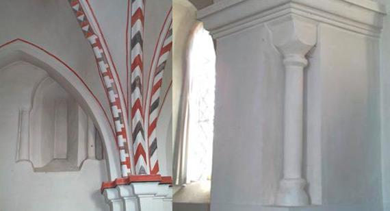 Interiør detalje fra Kr. Sonnerup kirke