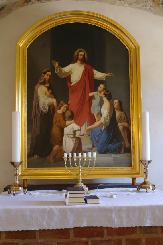 Altertavlen i Gershøj kirke