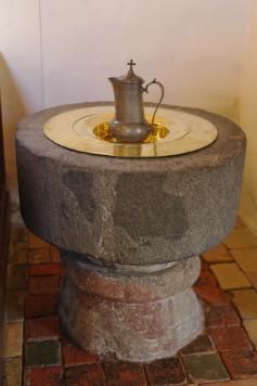 Døbefonten i Gershøj kirke