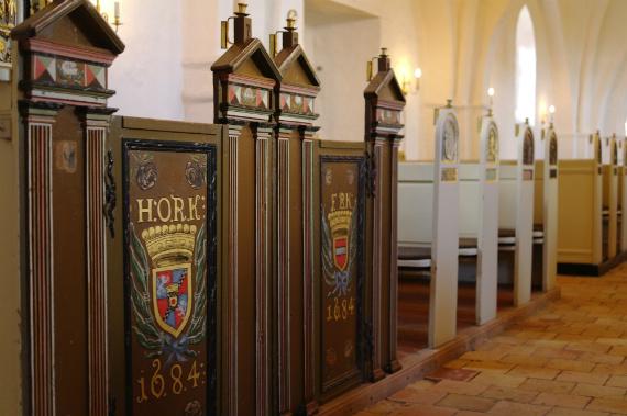 Stolestaderne i Gershøj kirke