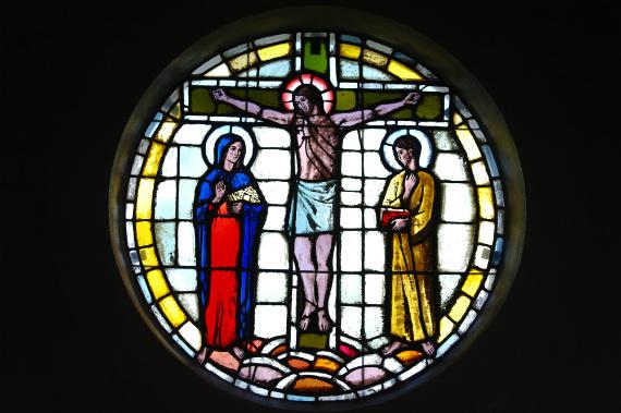 Glasmosaik i Gershøj kirke