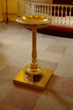 Døbefonten i Sæby kirke