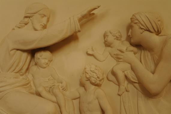 Gipsrelieffer i Sæby kirke
